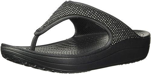 69b006b24e9 Amazon.com | Crocs Women's Sloane Ombre Diamante Flip Platform ...