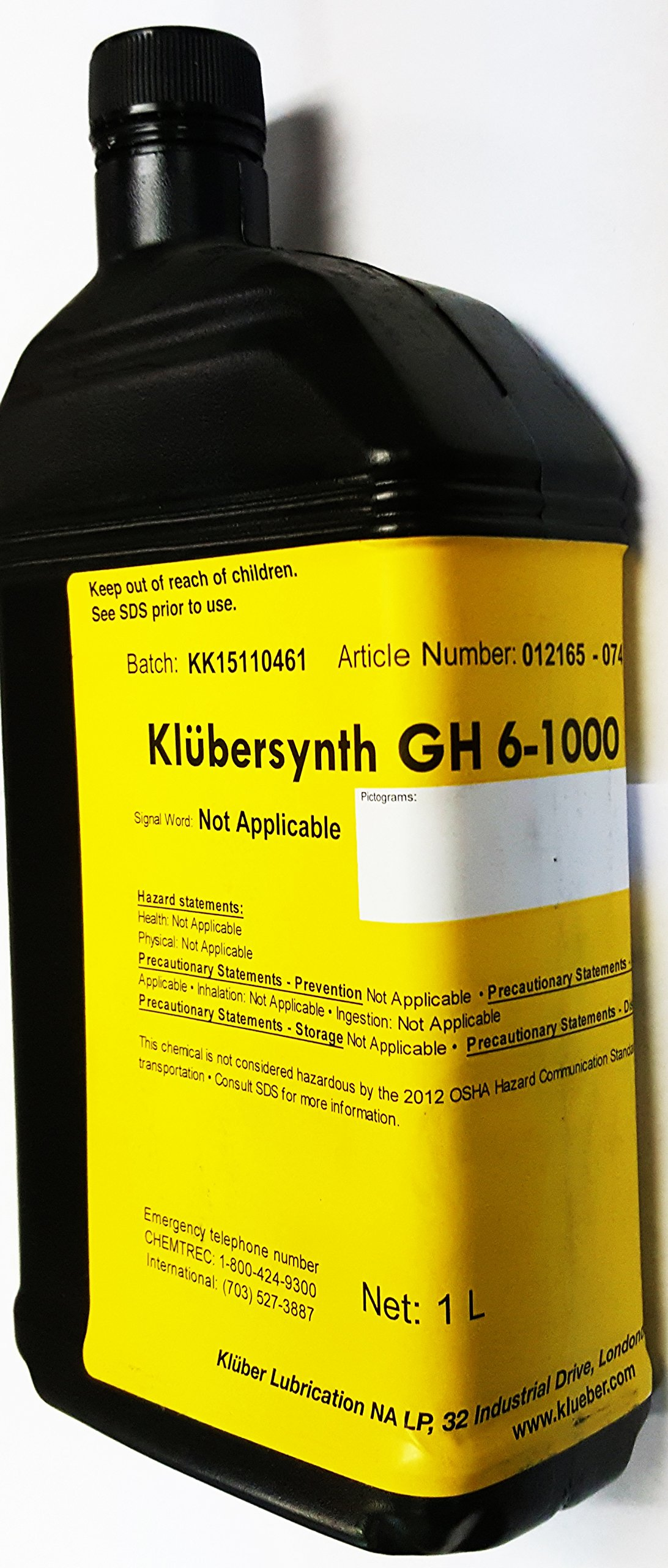 Klubersynth GH6-1000 Synthetic High Temperature Gear Oil I Liter