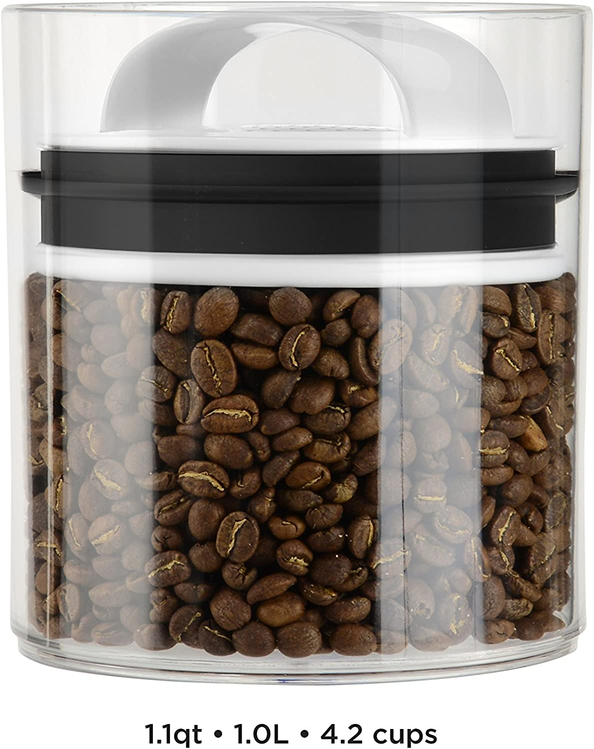 Prepara 3041-B Evak Fresh Saver Airless Canister, Medium/Short, Clear with Black Handle