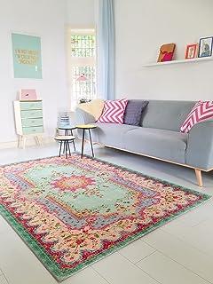 Teppich bunt retro  Amazon.de: Pastell Vintage Teppich | im angesagten Shabby Chic ...