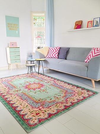 amazon.de: neuer teppich | im angesagten shabby chic look | für ... - Teppich Fur Wohnzimmer