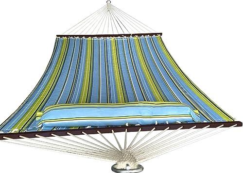 SueSport HC011-Blue 16-4020 Blue/Light Green Hammock Quilted Fabric