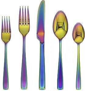 Cambridge Silversmiths 288420CAMRM12R Logan Rainbow Mirror 20 Piece Flatware Set,