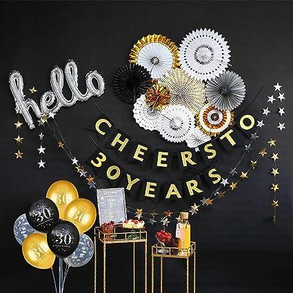 Amazon.com: Decoraciones de cumpleaños., Decoración para 30 ...