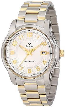 5b1695b8d Image Unavailable. Image not available for. Color: Bulova Men's 98B140  Precisionist Claremont Two-Tone Bracelet Watch