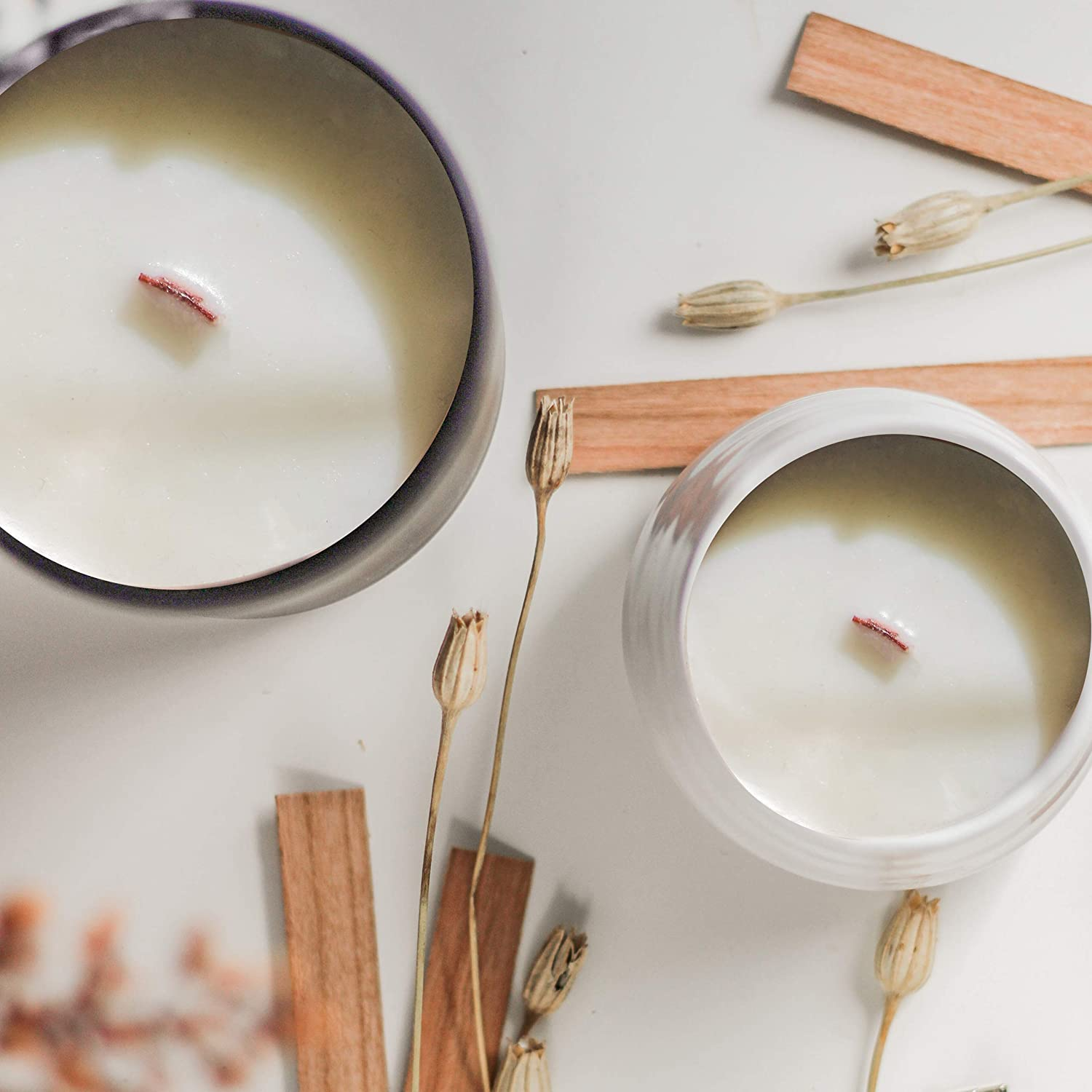 Clips Crackling Candle Wicks 100 Wicks, X-Large for Coconut The Wooden Wick Co Soy Wax Blend Candles