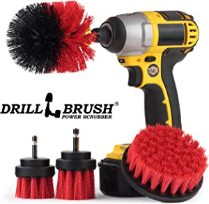 Drill Brush - Outdoor - Cleaning Supplies - Garden - Fountain - Patio - Fire Pit - Scrub Brush - Concrete - Marble - Grout Cleaner - Bird Bath - Granite - Headstone - Garden Statues - Pond