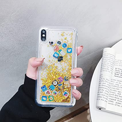 Amazon.com: Funda para iPhone 8, iPhone 7 con purpurina ...