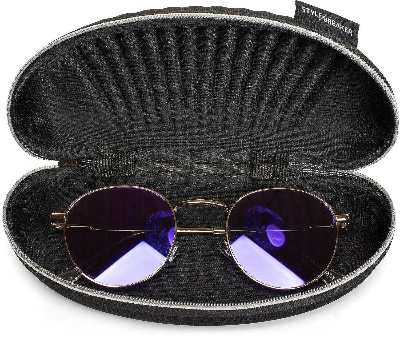 Brillenbox 09020057 Softcase mit Rei/ßverschluss styleBREAKER Etui f/ür Sonnenbrillen mit Putztuch