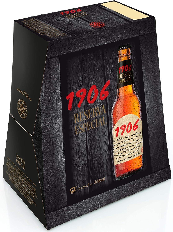 Cerveza 1906 Reserva Especial pack de 9 botellas de 25 cl: Amazon ...