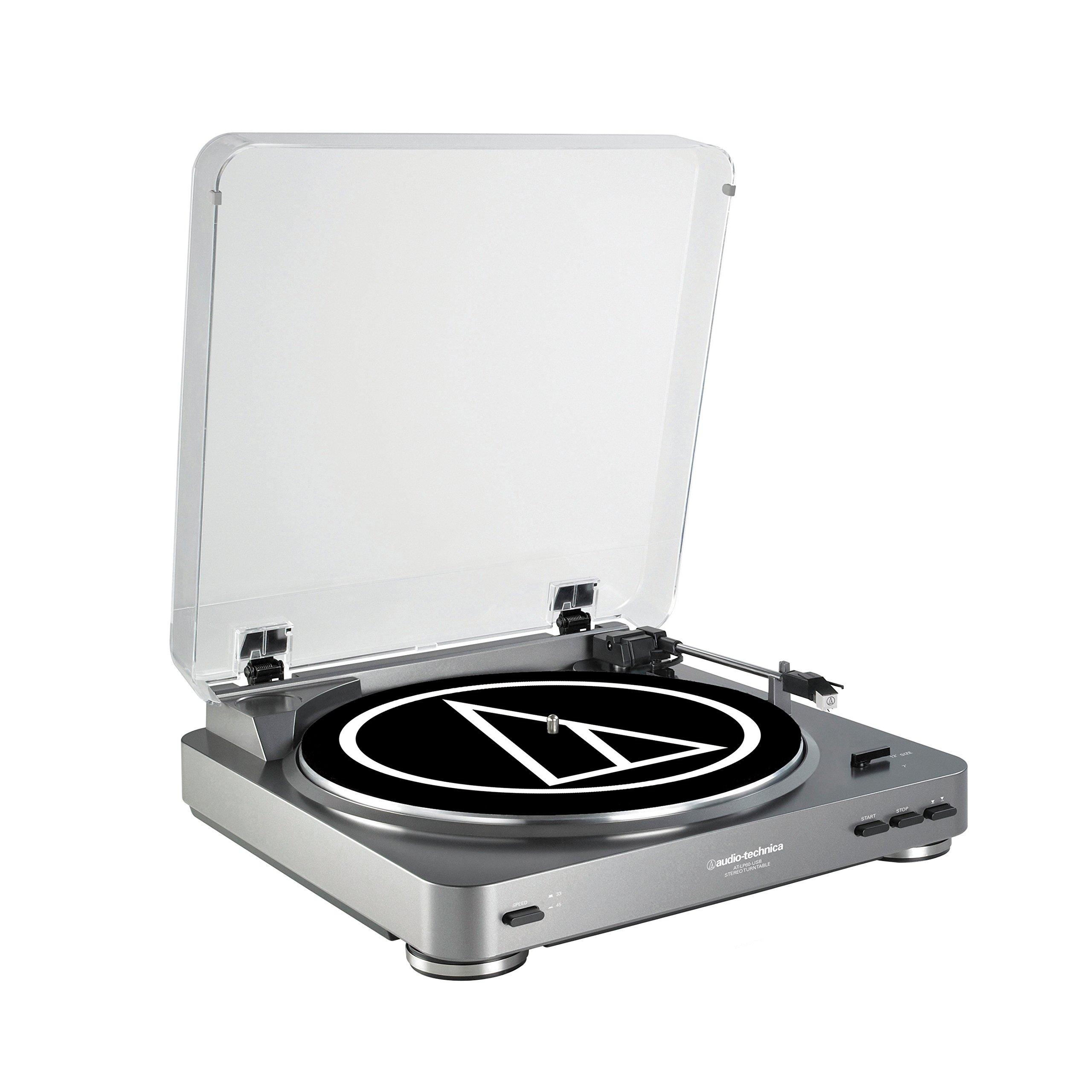Audio-Technica ATLP60USB LP to USB Digital Belt Drive Turntable - (Silver) by Audio-Technica