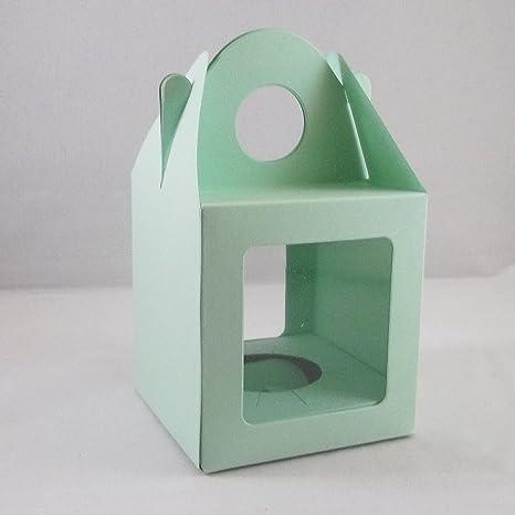 10 grandes de color verde claro de la magdalena modessimple/magdalena/cajas de torta