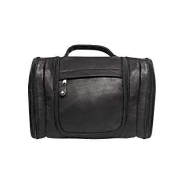 ef1db5621 Amazon.com | Canyon Outback Leather Hackberry Canyon Hanging Leather  Toiletry Bag (Black) | Travel Accessories