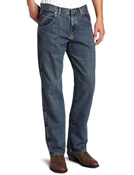 Menu0027s Wrangler Rugged Wear Relaxed Straight Fit Jeans, Mediterranean, ...