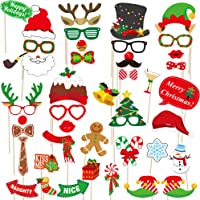 42-Pack dizaul 2019 Christmas Photo Booth Props
