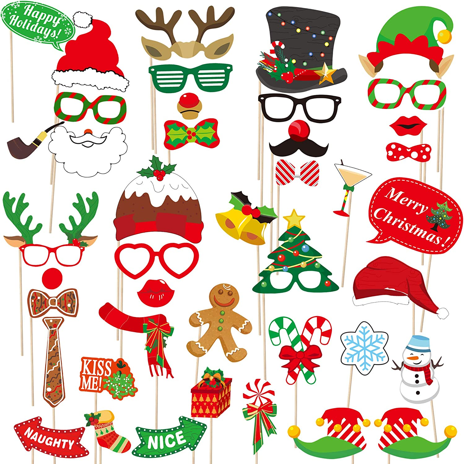 Christmas Gathering 2020 Funny Amazon.com: 2020 Christmas Photo Booth Props – 42 Pack DIY Xmas