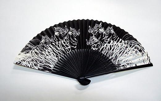 "Japanese Design Handheld Folding Fan Showohdo /""HIKO/"""