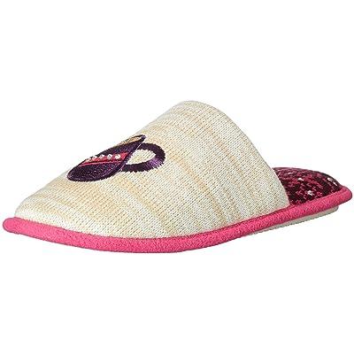 Dearfoams Women's Novelty Pile Scuff with Eye Mask Slipper, Oatmeal Heather, XL Regular US | Slippers
