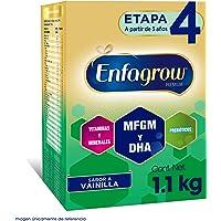 Leche de Crecimiento en Polvo para Niños mayores de 3 años Enfagrow Premium Vainilla Etapa 4 Caja de 1,100 gramos