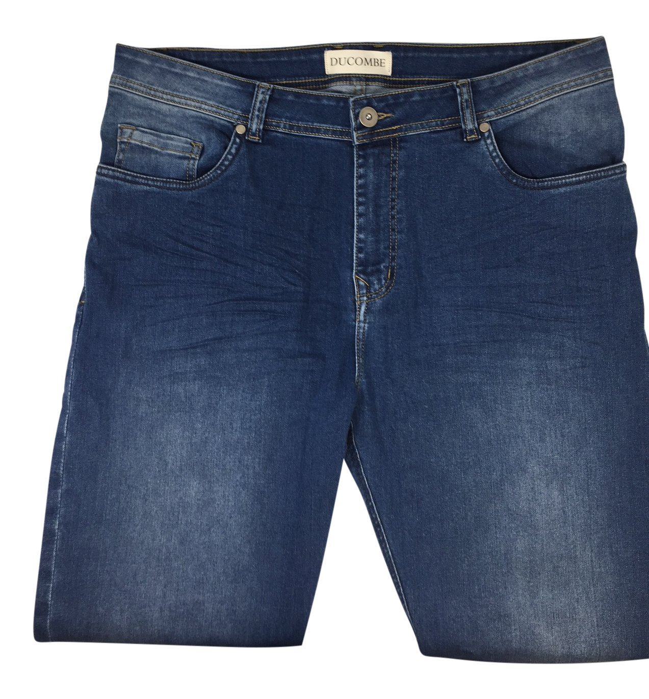 """29 inches Inseam Jeans - A Classic 5 Pocket Straight Fit Jean For Men Under 5'6"""" - Mid Blue Mens Jeans 30x29"""