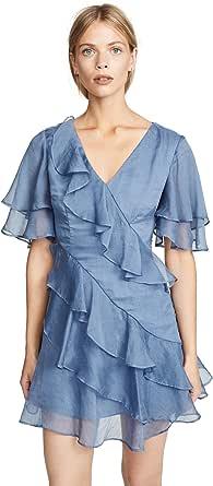Keepsake the Label Women's Genesis Short Flutter Sleeve Ruffle Mini Dress
