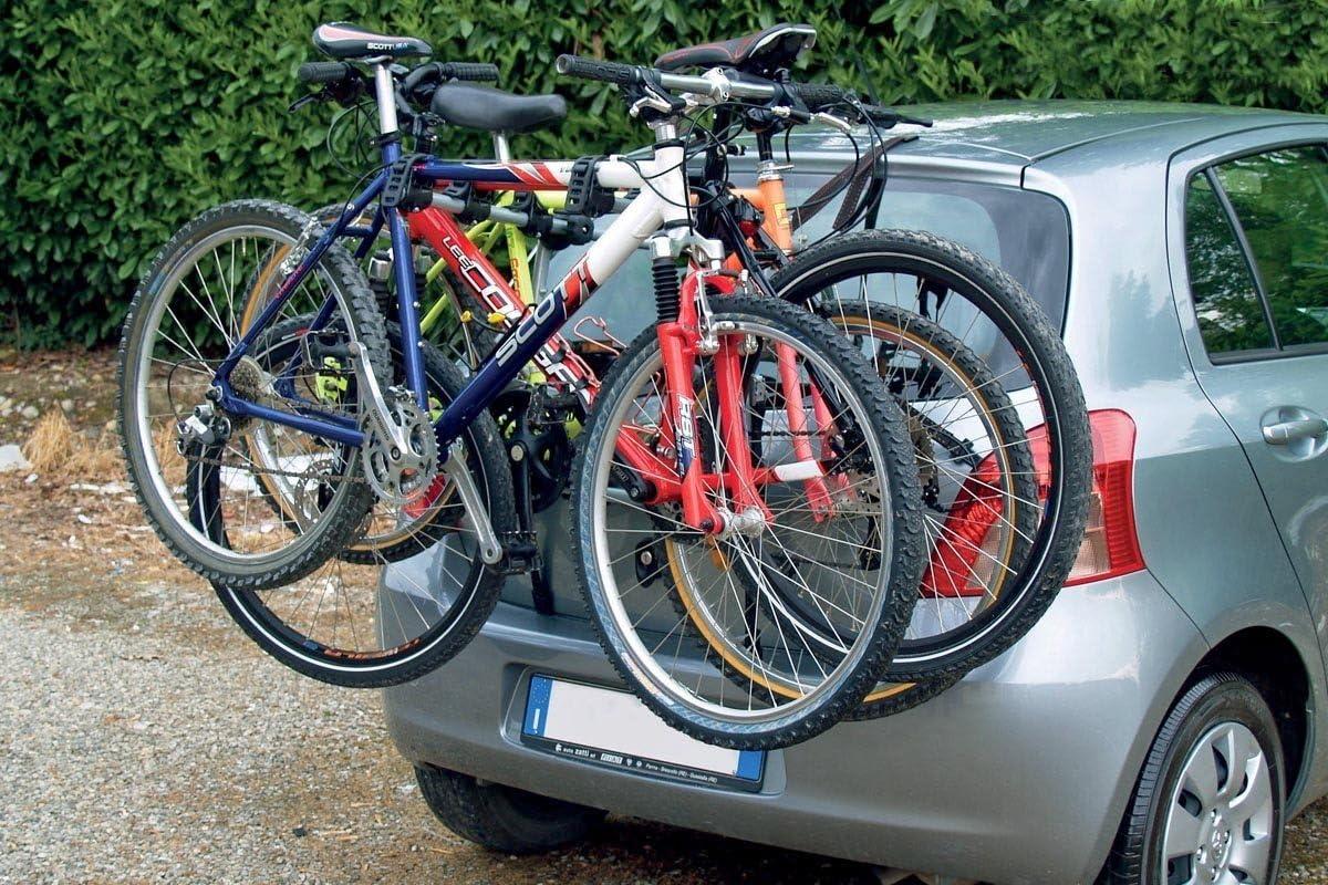 BIKI Hyundai i10 2017 Fahrradträger Heckklappe für 3 Fahrräder Heckträger