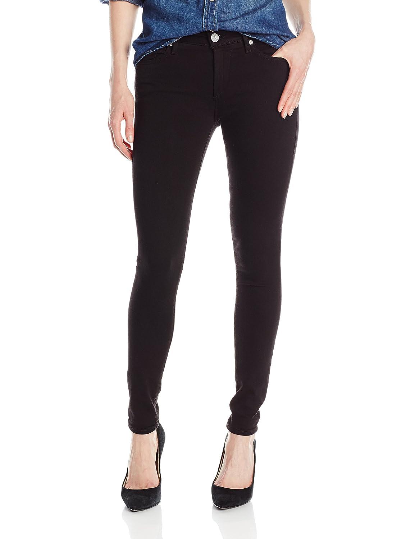 e8657d05b9e Amazon.com  True Religion Women s Halle Midrise Skinny Jean In Jet Black   Clothing