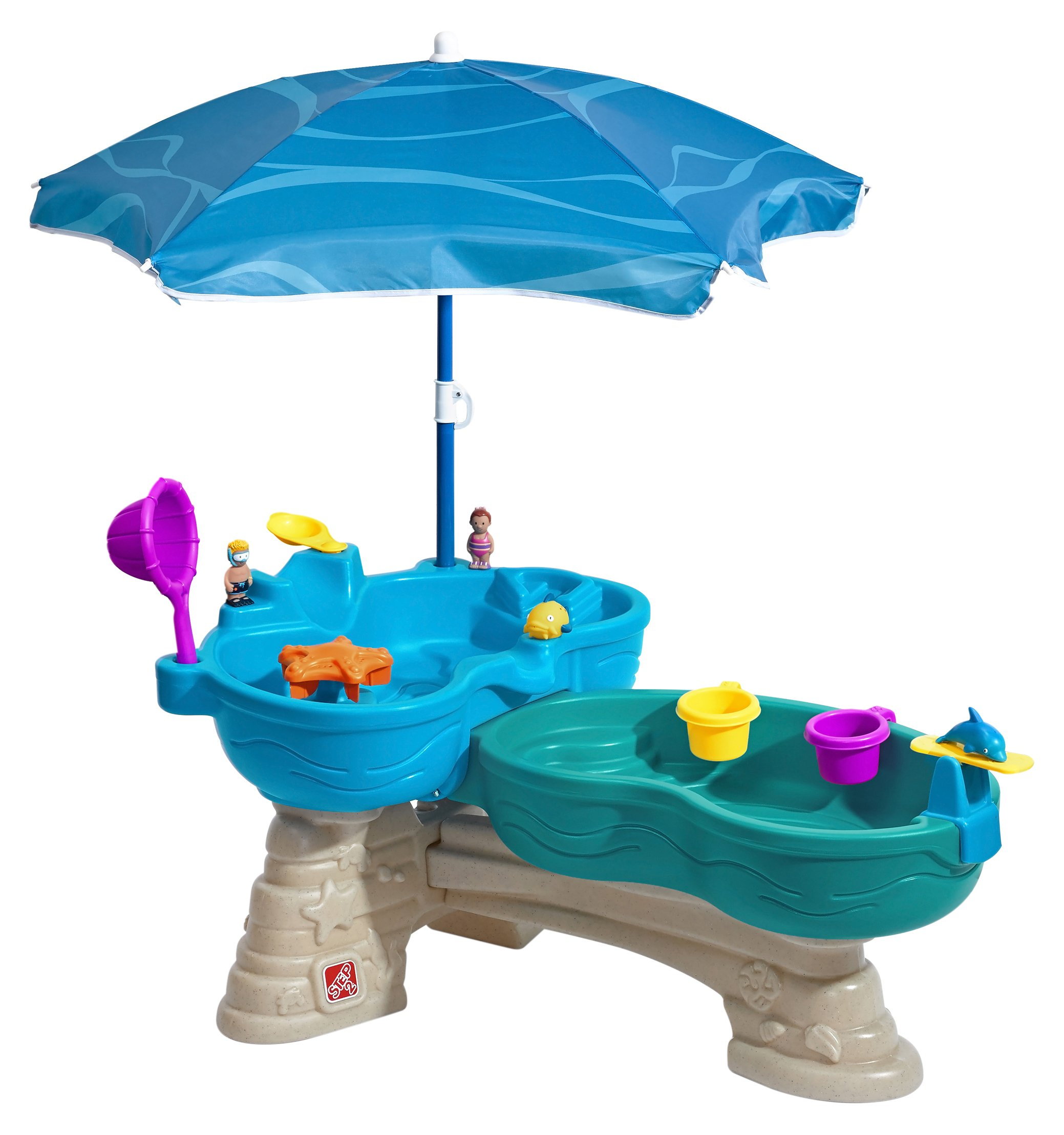 Kids Water Table Children Summer Toys Backyard Toddler Activity Center  Umbrella
