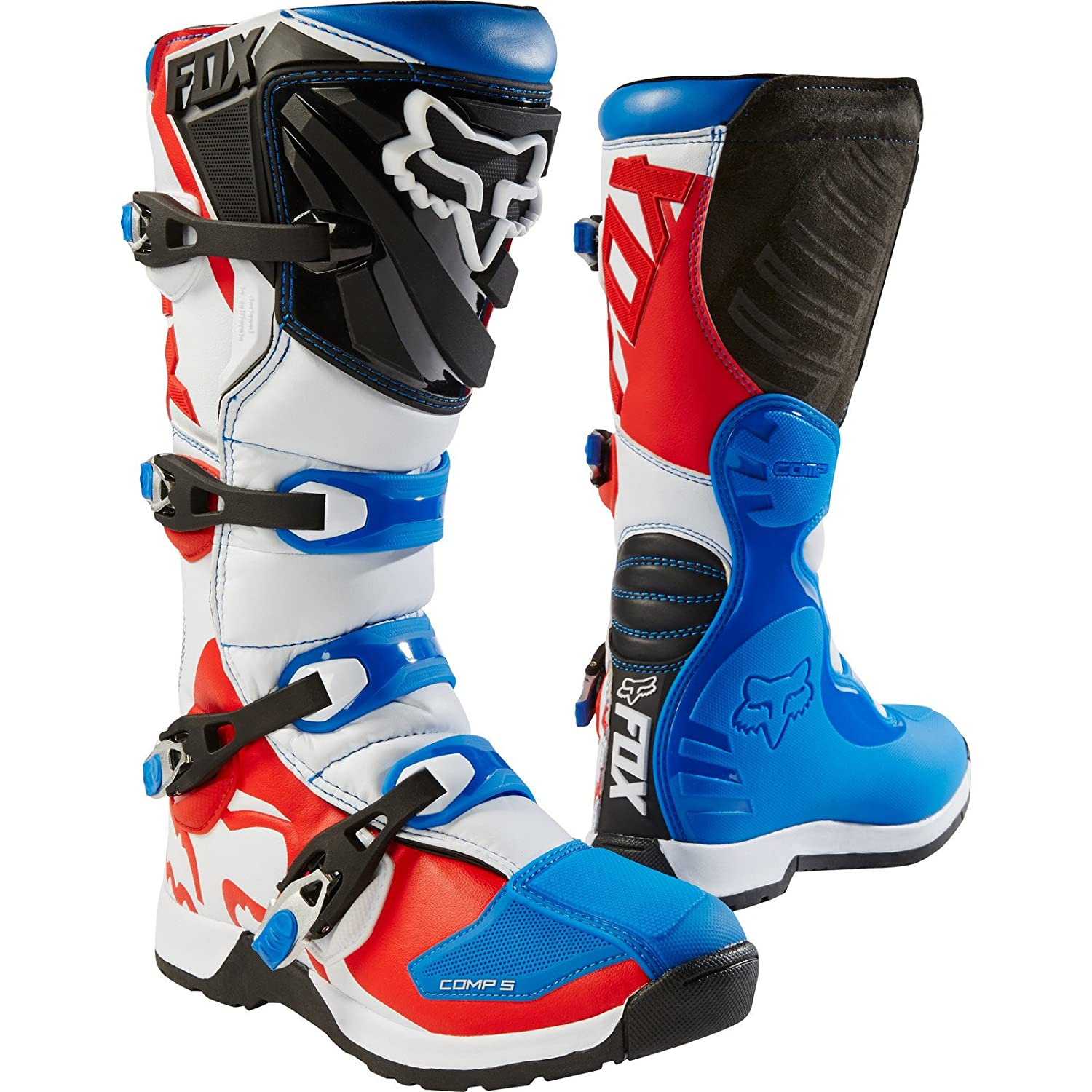 Fox Boots Comp 5, Blue/Red, tamañ o 12 tamaño 12 FOX HEAD EUROPE 16448-149-12