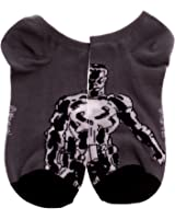 Marvel Punisher Grey & White Ankle Socks