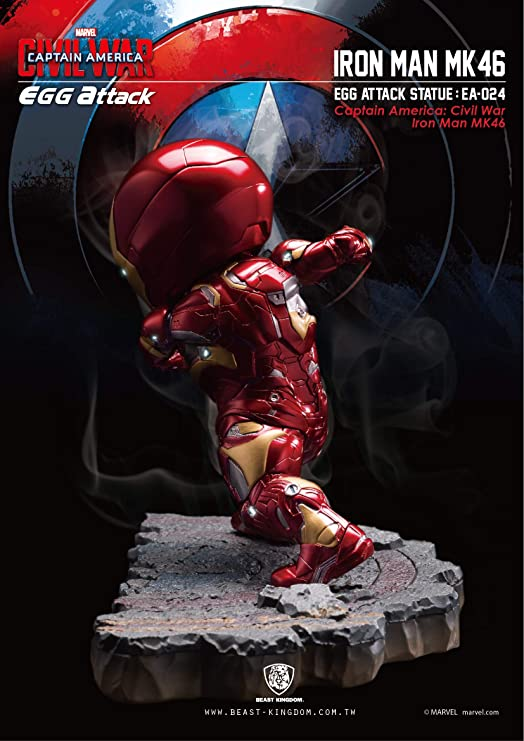 Action Figure Bluefin Distribution Toys BKT50391 Bandai Hobby Beast Kingdom EA-024 Iron Man MK 46 Civil War Statue