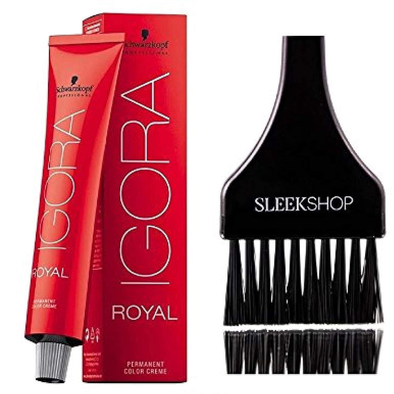 Amazon Com Schwarzkopf Professional Igora Royal Permanent Hair Color With Sleek Tint Brush 7 0 Medium Blonde Beauty