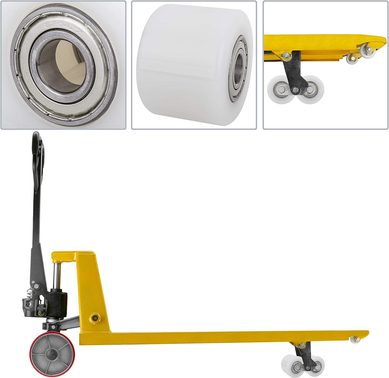 QR73 80 x 70 mm PrimeMatik QR73-VCES Transportroller 4er-Pack Wei/ß 700 kg
