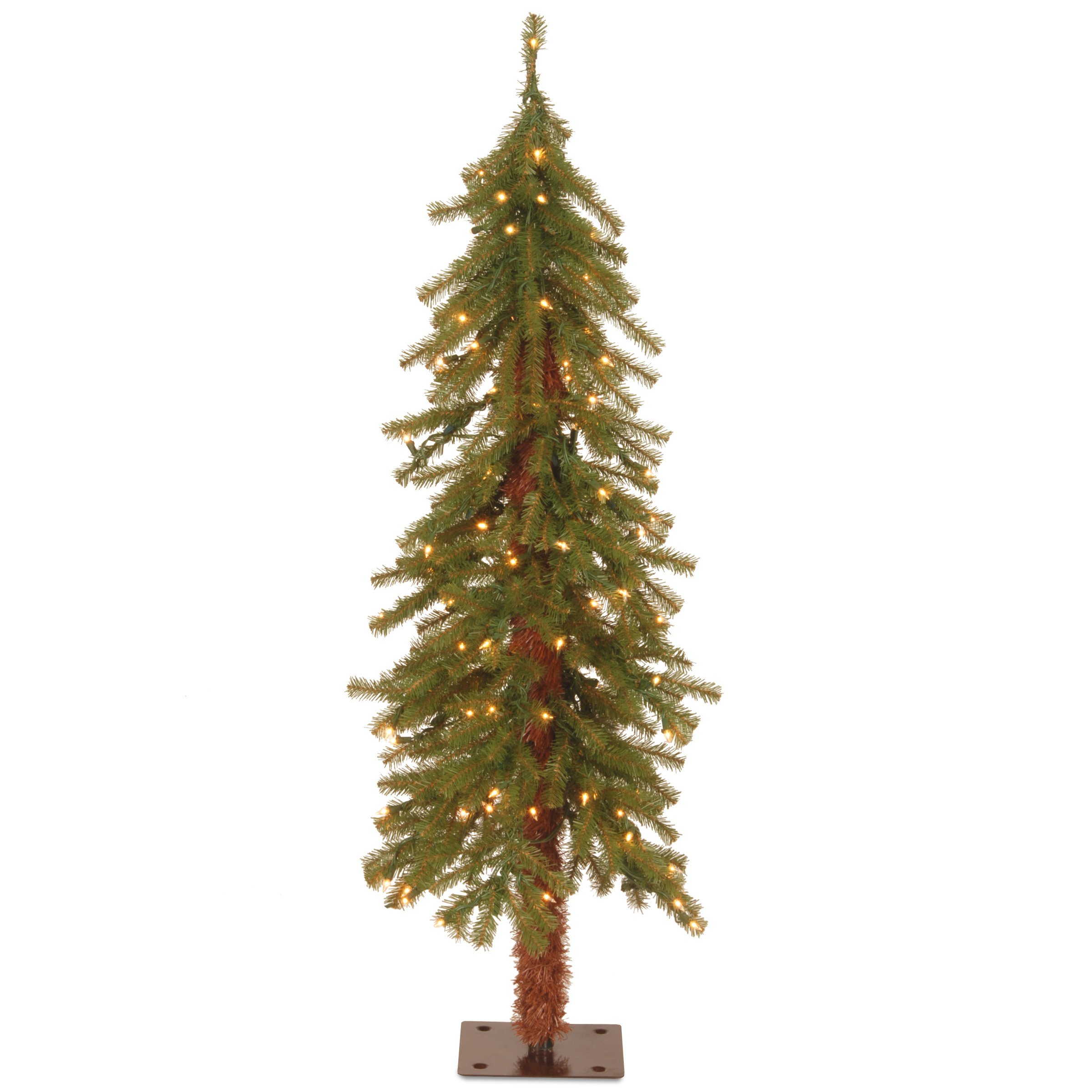 National Tree 4 Foot Hickory Cedar Tree with 100 Clear Lights (CED7-40LO-S)