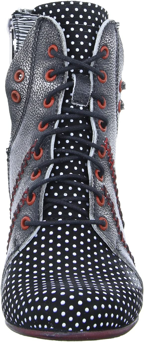 Simen dames laarzen laarzen in zwart-wit 09688 GRIJS gekleurd 338232 zwart, wit