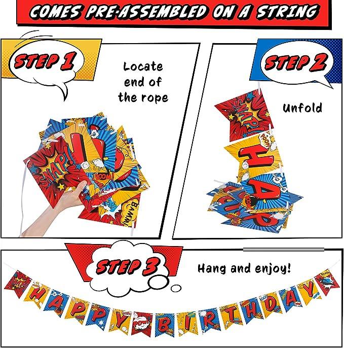 Amazon.com: Aliza - Cartel de superhéroe para fiestas de ...