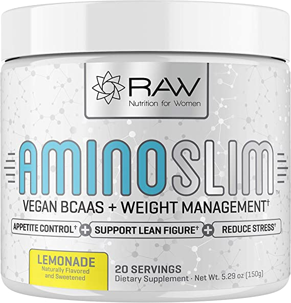 Amazon.com: AMINO SLIM - Slimming BCAA Weight Loss Drink For Women, Vegan Amino Acids & L-Glutamine Powder for Post Workout Recovery & Thyroid Support | Appetite Suppressant, Metabolism Booster & Stress Relief: Health & Personal Care