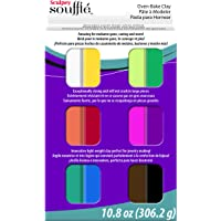 Polyform SUMP0750 Sculpey Souffle Multipack Clay, 0.9-Ounce, 12-Pack