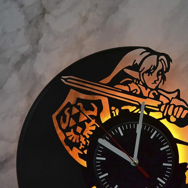 Zelda Vinyl Record Clock Zelda Wall Decoration Zelda Led Light Night Light Wall Lamp Hanging Clock