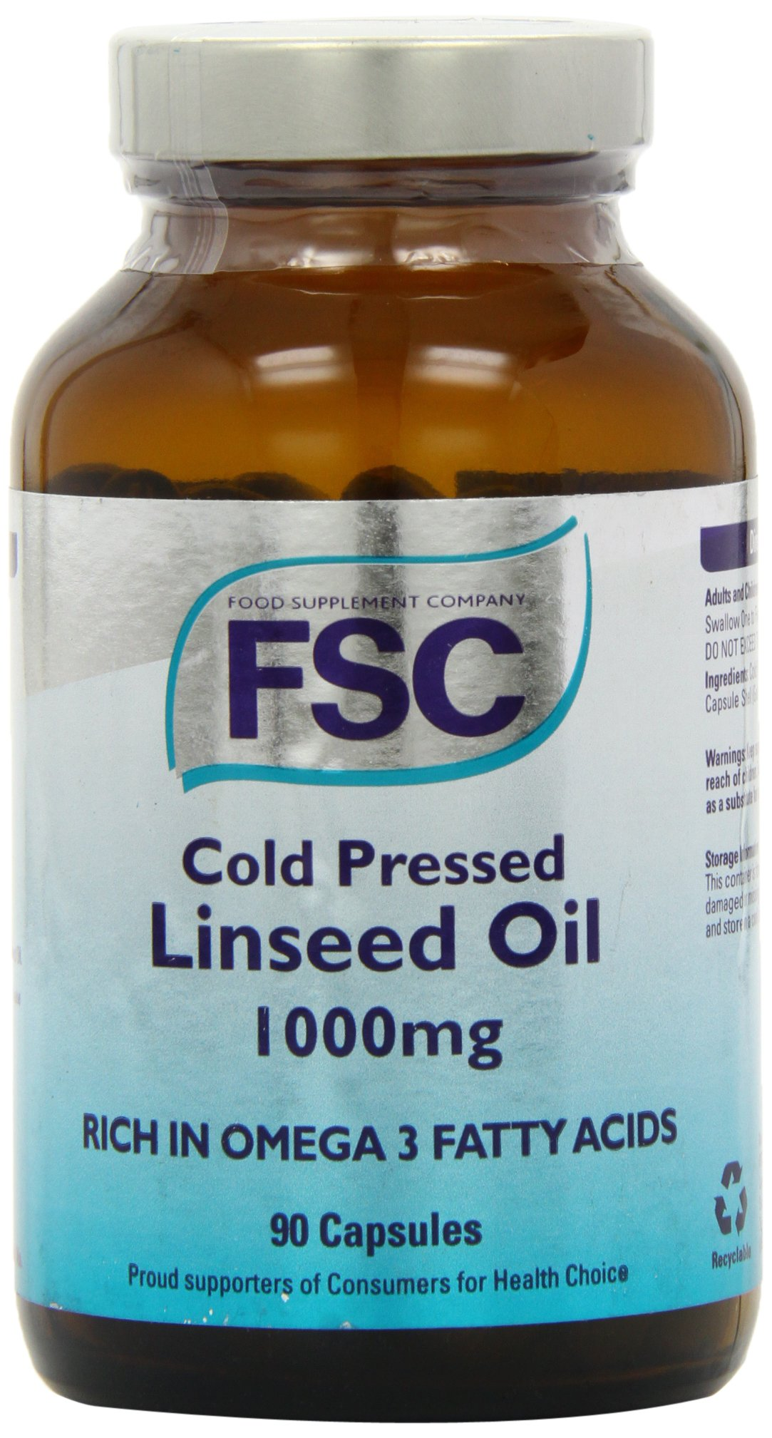 FSC Cold Pressed Linseed Oil 1000 90 capsule by FSC