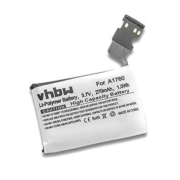 vhbw Batería de polímero de Litio 270mAh (3.8V) para Reloj ...