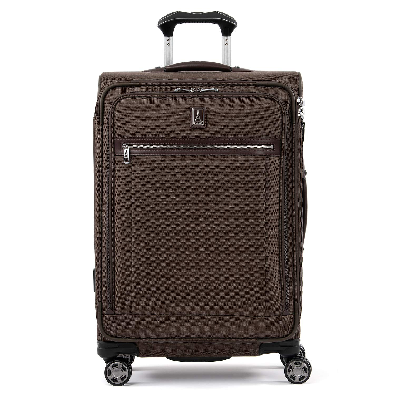Travelpro Luggage Platinum Elite 25'' Expandable Spinner Suitcase w/Suiter, Rich Espresso