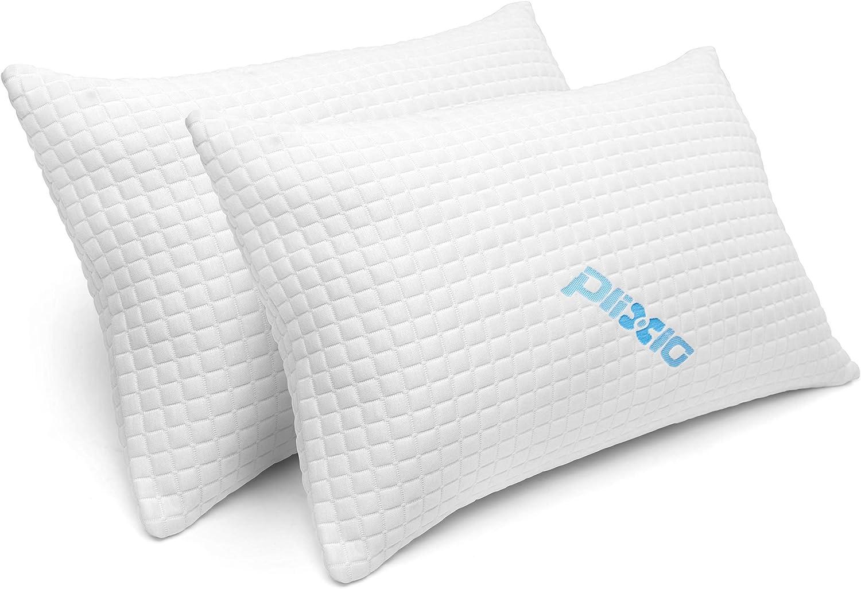 2 Pack Shredded Memory Foam Bed Pillows