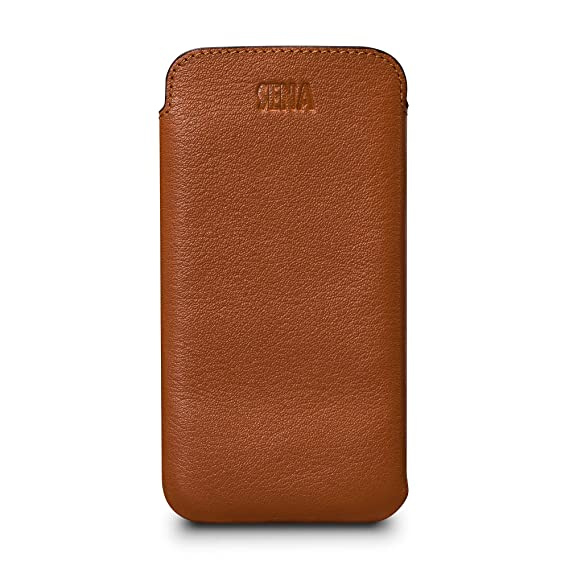 brand new 282b6 049f3 Sena UltraSlim Leather Sleeve Cell Phone Case for Samsung Galaxy S9+ / S10+  - Tan