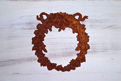 Lg floral wreath applique etsy