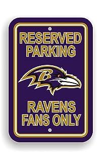Fremont Die NFL Baltimore Ravens Plastic Parking Sign