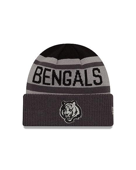 861dab5cc88 New Era NFL Cincinnati Bengals Unisex NFL Black   Gray Biggest Fan 2.0 Cuff  Knit Beanie