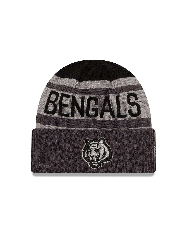 New Era NFL Unisex NFL Black /& Gray Biggest Fan 2.0 Cuff Knit Beanie