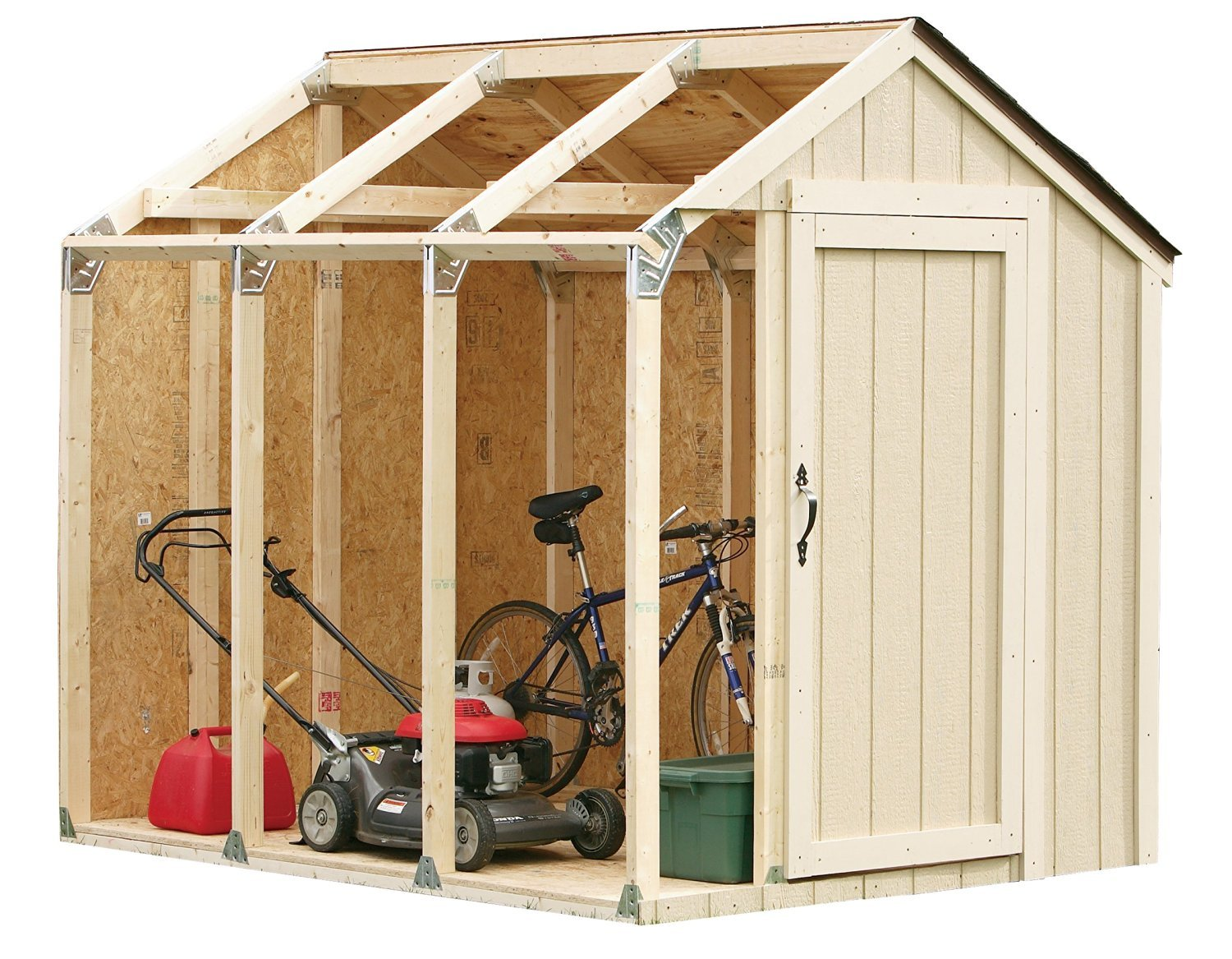 amazon com hopkins 90192 2x4basics shed kit peak style roof