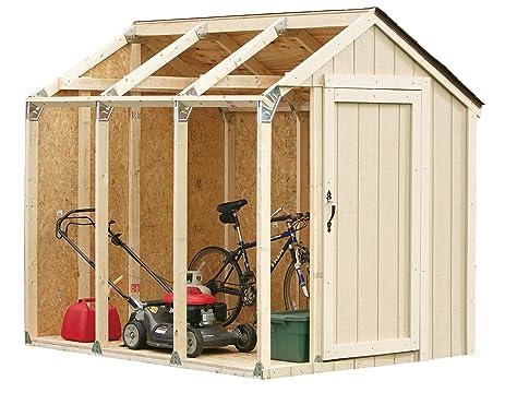 amazoncom hopkins 90192 2x4basics shed kit peak style roof storage sheds garden outdoor